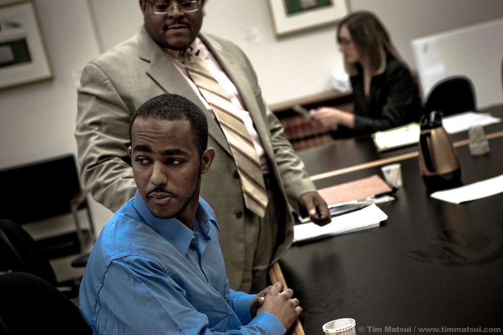 Defendant Yusef Jama and his attorney James Womack.