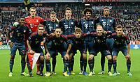 Fotball<br /> Tyskland<br /> 17.09.2013<br /> Foto: Witters/Digitalsport<br /> NORWAY ONLY<br /> <br /> Lagbilde FC Bayern Muenchen<br /> hinten v.l. David Alaba, Torwart Manuel Neuer, Toni Kroos, Mario Mandzukic, Dante, Jerome Boateng<br /> vorn v.l. Philipp Lahm, Franck Ribery, Thomas Mueller, Arjen Robben, Rafinha<br /> <br /> Fussball Champions League, Gruppephase, FC Bayern München - CSKA Moskva