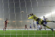 Reading goalkeeper Ali Al Habsi (26) saves during the Sky Bet Championship match between Middlesbrough and Reading at the Riverside Stadium, Middlesbrough, England on 12 April 2016. Photo by Simon Davies.