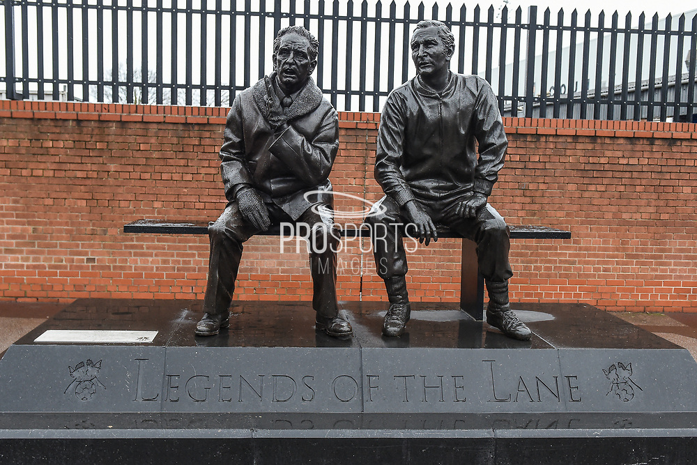 Legends of the Lane statue of Former Notts County Manager Jimmy Sirrel and Notts County physio Jack Wheeler during the The FA Cup 4th round match between Notts County and Swansea City at Meadow Lane, Nottingham, England on 27 January 2018. Photo by Jon Hobley.