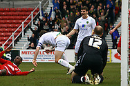 Swindon - Saturday March 20th, 2010: Grant Holt of Norwich opens the scoring and celebrates during the Coca Cola League One match at The County Ground, Swindon. (Pic by Paul Chesterton/Focus Images)