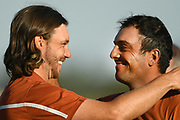 Francesco Molinari (Ita) and Tommy Fleetwood (Eng) during the saturday afternoon foursomes session of Ryder Cup 2018, at Golf National in Saint-Quentin-en-Yvelines, France, September 29, 2018 - Photo Philippe Millereau / KMSP / ProSportsImages / DPPI