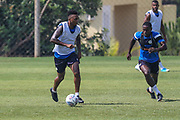 Forest Green Rovers Keanu Marsh-Brown(7) on the ball during the Forest Green Rovers Training session at Browns Sport and Leisure Club, Vilamoura, Portugal on 25 July 2017. Photo by Shane Healey.