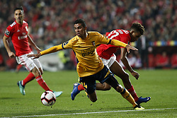 December 23, 2018 - Lisbon, Portugal - Pablo of Braga (L) vies for the ball with Gedson Fernandes of Benfica (R)  during the Portuguese League football match between SL Benfica and SC Braga at Luz Stadium in Lisbon on December 23, 2018. (Credit Image: © Carlos Palma/NurPhoto via ZUMA Press)