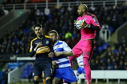 Ali Al-Habsi of Reading comes out to make a save - Mandatory by-line: Jason Brown/JMP - 07/03/2017 - FOOTBALL - Madejski Stadium - Reading, England - Reading v Newcastle United - Sky Bet Championship