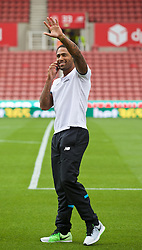 STOKE-ON-TRENT, ENGLAND - Sunday, August 9, 2015: Stoke City's former Liverpool player Glen Johnson before the Premier League match at the Britannia Stadium. (Pic by David Rawcliffe/Propaganda)