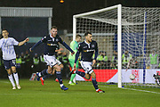 Millwall forward Lee Gregory (9)  celebrates his goal with Millwall forward Aiden O'Brien (22) during the The FA Cup fourth round match between Millwall and Everton at The Den, London, England on 26 January 2019.