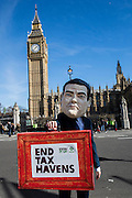 Oxfam's George Osbourne searches for money missing from the national coffers on a tax haven ahead of Wednesdays budget.
