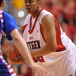 Jan 31, 2009; Piscataway, NJ, USA; Rutgers forward J.R. Inman (15) looks for an open pass during the second half of Rutgers' 75-56 victory over DePaul in NCAA college basketball at the Louis Brown Athletic Center