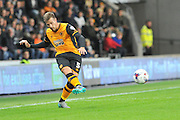 Ryan Taylor  crosses ball during the Capital One Cup match between Hull City and Swansea City at the KC Stadium, Kingston upon Hull, England on 22 September 2015. Photo by Ian Lyall.