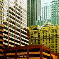 Buildings in Midtown Manhattan, most of them apartment buildings.