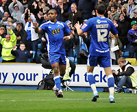 Photo: Tony Oudot/Richard Lane Photography. Millwall v Stockport Country. Coca-Cola Football League One. 27/03/2010. <br /> Jonathan Obika celebrates his goal for Millwall after coming on as a substitute