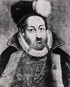 Tycho Brahe (Tyge Ottesen Brahe - 1546-1601) Danish astronomer, astrologer and alchemist  who built astronomical instruments which enabled him to make the most accurate observations of his time. After a drawing by an unknown artist.