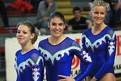 "Tjasa Kysselef, Sasa Golob and Adela Sajn at event ""Slovenian Gymnastics stars"" after the European Championships in Milano, on April 6, 2009, in Hall Slovan, Kodeljevo, Ljubljana, Slovenia. (Photo by Vid Ponikvar / Sportida)"