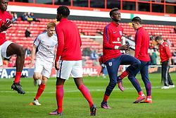 Tammy Abraham of England U21 warms up - Rogan Thomson/JMP - 11/10/2016 - FOOTBALL - Bescot Stadium - Walsall, England - England U21 v Bosnia and Herzegovina - UEFA European Under 21 Championship Qualifying.