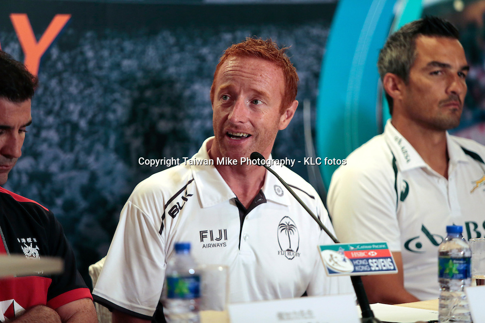 Fiji Rugby Sevens head coach Ben Ryan during a press conference at Marco Polo Hotel in Hong Kong ahead of the HSBC Hong Kong Sevens 2015. Wednesday 25 March 2015. Copyright photo: Michael Lee/  KLC fotos