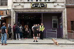 © Licensed to London News Pictures. 04/07/2020. London, UK. G-A-Y bar reopen for customers after a relaxing of rules during the Covid-19 pandemic. Photo credit: Ray Tang/LNP