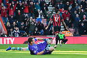 Goal - Joshua King (17) of AFC Bournemouth celebrates scoring the equalising goal to make the score 1-1 during the Premier League match between Bournemouth and Arsenal at the Vitality Stadium, Bournemouth, England on 25 November 2018.