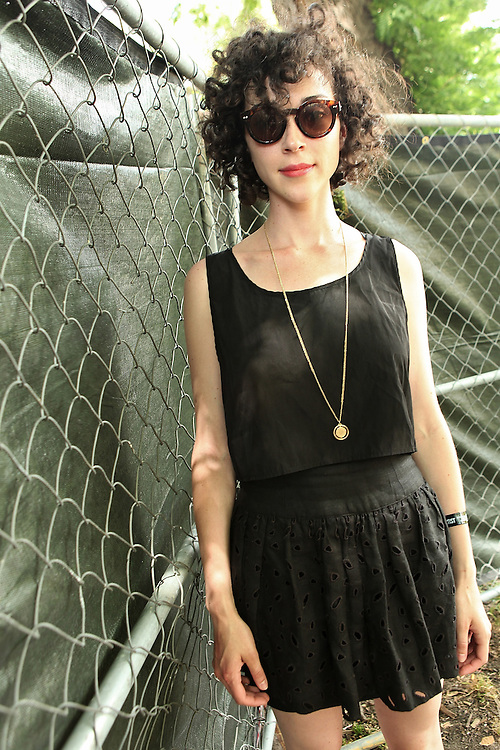CHICAGO - JULY 18:  Annie Clark aka St. Vincent poses for a portrait backstage during the 2010 Pitchfork Music Festival at Union Park on July 18, 2010 in Chicago, Illinois.  (Photo by Roger Kisby/Getty Images)