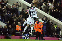 Photo: Rich Eaton.<br /> <br /> West Bromwich Albion v Cardiff City. Coca Cola Championship. 20/02/2007. Nathan Ellington celebrates scoring the first goal of the game for West Brom