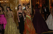 Rainsford Qualley and Sofia Barclay. . The 2005 Crillon Debutante Ball. Crillon Hotel, Paris. 26  November 2005. ONE TIME USE ONLY - DO NOT ARCHIVE  © Copyright Photograph by Dafydd Jones 66 Stockwell Park Rd. London SW9 0DA Tel 020 7733 0108 www.dafjones.com