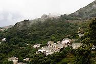 Corsica. France. Rogliano perched Village  of the cap Corse, Corsica   France  / Rogliano village perche du cap Corse  Corse   France