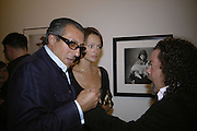 Broosk Saib, Saffron Aldridge and Alastair Cudderford. Irving Penn: Now & Then, private view, Hamiltons Gallery, 13 Carlos Place, London, W1, 13 September 2006. ONE TIME USE ONLY - DO NOT ARCHIVE  © Copyright Photograph by Dafydd Jones 66 Stockwell Park Rd. London SW9 0DA Tel 020 7733 0108 www.dafjones.com