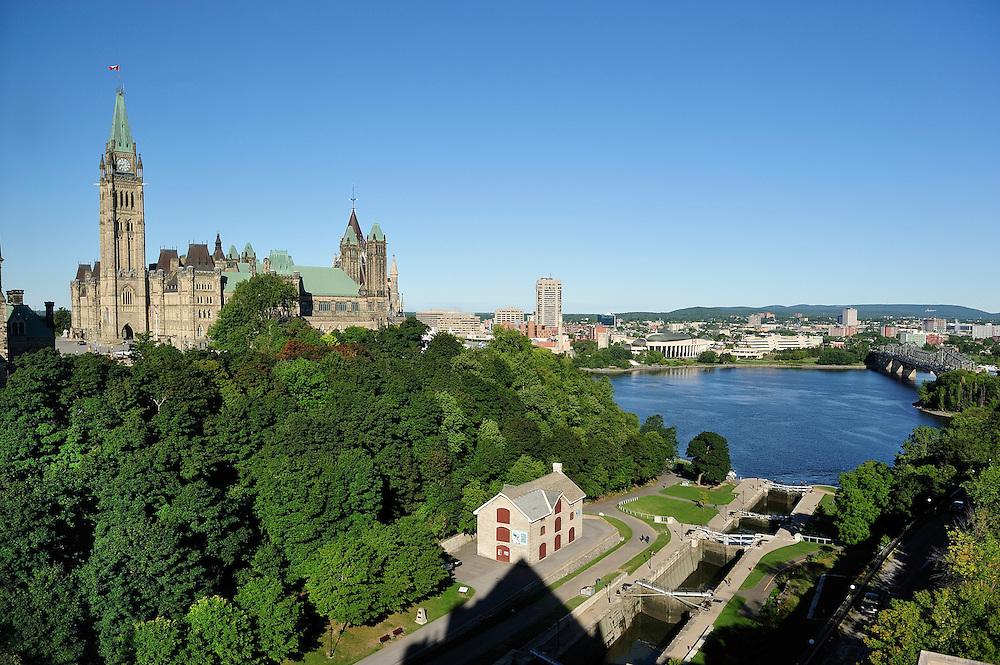 Parliament Hill,Ottawa River,Ottawa, Ontario, Canada,