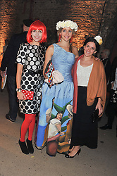 Left to right, MARGO TRUSHINA, CELINA TEAGUE and LEIGH MATTHEWS at Wanderlust - the Contemporary Art Society Annual Fundraising Gala held at Old Vic Tunnels, London on 13th March 2013.