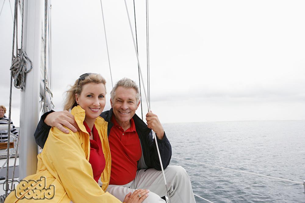 Couple on yacht, portrait