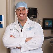 Dr. Matthew D. Ellington, M.D., is photographed at Rady Childrens' Hospital in San Diego for Austin College. Photography by Dallas corporate photographer William Morton of Morton Visuals.