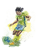Obafemi Martins, from Nigeria, forward for The Seattle Sounders.<br />