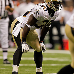 2009 August 14: New Orleans Saints running back Lynell Hamilton (30) lines up for a play during 17-7 win by the New Orleans Saints over the Cincinnati Bengals in their preseason opener at the Louisiana Superdome in New Orleans, Louisiana.