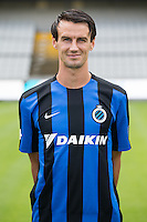 Club's Davy De Fauw poses for the photographer during the 2015-2016 season photo shoot of Belgian first league soccer team Club Brugge, Friday 17 July 2015 in Brugge