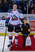 KELOWNA, CANADA - FEBRUARY 23: Second Star of the Game Ethan Ernst #19 of the Kelowna Rockets at the Kelowna Rockets game on February 23, 2019 at Prospera Place in Kelowna, British Columbia, Canada. (Photo By Cindy Rogers/Nyasa Photography, *** Local Caption ***