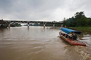 Eastern & Oriental Express crossing the River Kwai Bridge.