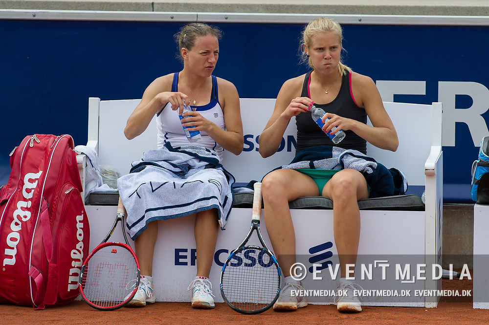 Karen Barritza (Denmark, left) and Ellen Allgurin (Sweden) at the 2017 WTA Ericsson Open in Båstad, Sweden, July 27, 2017. Photo Credit: Katja Boll/EVENTMEDIA.