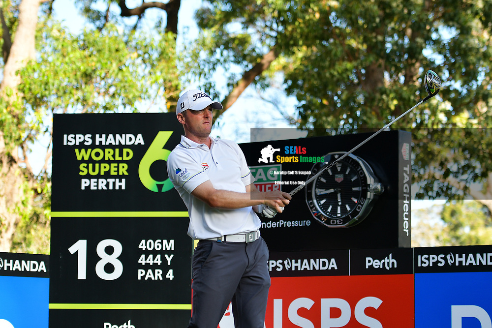 PERTH, AUSTRALIA - FEBRUARY 15: Michael Hoey (NIR) on the 18th tee during the 2nd round of the ISPS Handa World Super 6, Lake Karrinyup Country Club, Perth, Western Australia, on February 15, 2019. <br /> .<br /> .<br /> .<br /> (Photo by: Naratip Golf Srisupab/SEALs Sports Images)<br /> .<br /> Any image use must include a mandatory credit line adjacent to the content which should read: Naratip Golf Srisupab/SEALs Sports Images