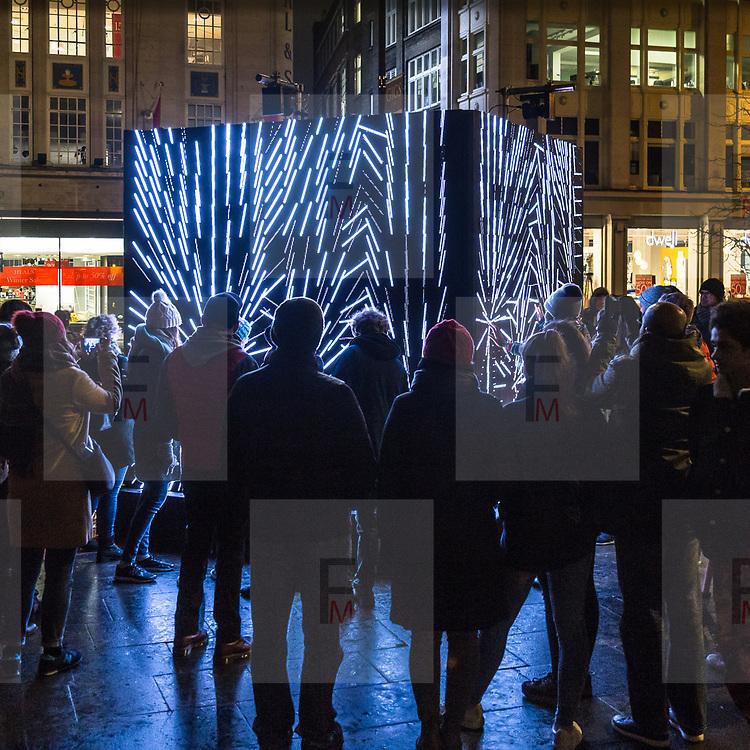 Lumiere London: il festival delle intallazioni luminose edizione 2018<br /> <br /> Lumiere London: the festival of the artwork  light 2018 edition.<br /> <br /> #6d, #photooftheday #picoftheday #bestoftheday #instadaily #instagood #follow #followme #nofilter #everydayuk #canon #buenavistaphoto #photojournalism #flaviogilardoni <br /> <br /> #london #uk #greaterlondon #londoncity #centrallondon #cityoflondon #londontaxi #londonuk #visitlondon<br /> <br /> #photo #photography #photooftheday #photos #photographer #photograph #photoofday #streetphoto #photonews #amazingphoto #blackandwhitephoto #dailyphoto #funnyphoto #goodphoto #myphoto #photoftheday #photogalleries #photojournalist #photolibrary #photoreportage #pressphoto #stockphoto #todaysphoto #urbanphoto<br /> <br /> #lumierelondon #light #festival #lightfestival #fitzrovia
