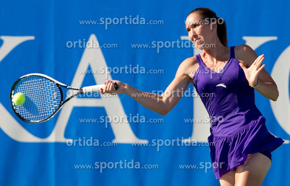 Jelena Jankovic of Serbia at 1st Round of Doubles at Banka Koper Slovenia Open WTA Tour tennis tournament, on July 19, 2010 in Portoroz / Portorose, Slovenia. (Photo by Vid Ponikvar / Sportida)