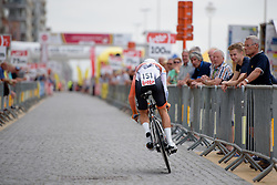 Thalita de Jong (Rabo Liv) on her way to second place at the 4.4 km Prologue of the Lotto Belgium Tour 2016 on 6th September 2016 in Nieuwpoort, Belgium. (Photo by Sean Robinson/Velofocus).