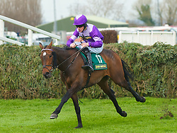 LIVERPOOL, ENGLAND - Friday, April 9, 2010: Always Wining ridden by Brian Hughes jumps the last fence to win the fifth race during the second day of the Grand National Festival at Aintree Racecourse. (Pic by David Rawcliffe/Propaganda)