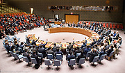 Security Council vote on sanctions for North Korea at the United Nations in New York City, NY on September 11, 2017.