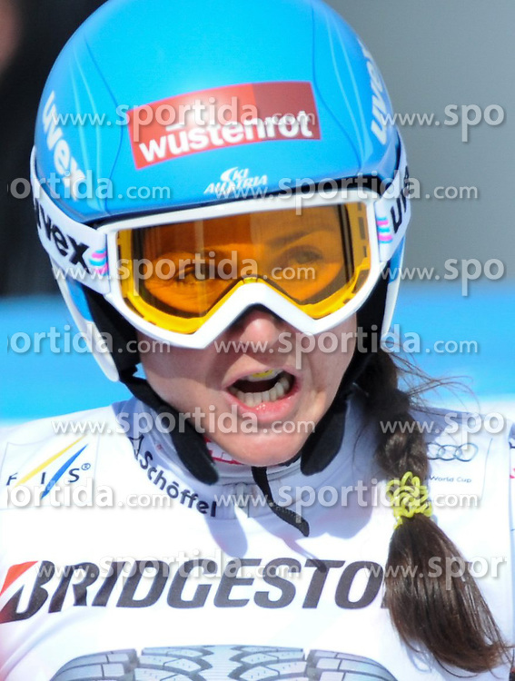 06.03.2015, Kandahar, Garmisch Partenkirchen, GER, FIS Weltcup Ski Alpin, Abfahrt, Damen, 1. Trainingslauf, im Bild Elisabeth Goergl (AUT) // Elisabeth Goergl of Austria during 1st training run for the ladie's Downhill of the FIS Ski Alpine World Cup at the Kandahar course, Garmisch Partenkirchen, Germany on 2015/03/06. EXPA Pictures © 2015, PhotoCredit: EXPA/ Erich Spiess