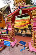 Laos, Vientiane. Wat Si Muang Buddhist Temple.