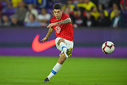 March 21, 2019 - Orlando, Florida, USA - US midfielder Christian Pulisic (10) prior to an international friendly between the US and Ecuador at Orlando City Stadium on March 21, 2019 in Orlando, Florida. .The US won the game 1-0...©2019 Scott A. Miller. (Credit Image: © Scott A. Miller/ZUMA Wire)
