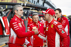 March 24, 2018 - Melbourne, Victoria, Australia - ARRIVABENE Maurizio, Managing Director & Team Principal Scuderia Ferrari, VETTEL Sebastian (ger), Scuderia Ferrari SF71H, portrait during 2018 Formula 1 championship at Melbourne, Australian Grand Prix, from March 22 To 25 - s: FIA Formula One World Championship 2018, Melbourne, Victoria : Motorsports: Formula 1 2018 Rolex  Australian Grand Prix, (Credit Image: © Hoch Zwei via ZUMA Wire)