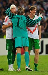 24.08.2010, Lugio Ferraris Stadion, Genua, ITA, UEFA CL, Werder Bremen vs Sampdoria Genua, im Bild Sandro Wagner (Bremen #19), Tim Wiese (Bremen #1), Tim Borowski (Bremen #6), EXPA Pictures © 2010, PhotoCredit: EXPA/ nph/  Roth+++++ ATTENTION - OUT OF GER +++++ / SPORTIDA PHOTO AGENCY