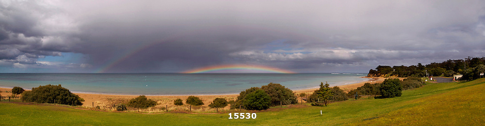 rainbow over Fisherman's Beach
