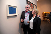 WITH THE FONTANA THEYVE JUST BOUGHT.- FRANK DUNPHY; LANA DUNPHY, The Private Preview of this yearÕs Pavilion of Art & Design London, Berkeley Square . LONDON. 11 October 2010, .-DO NOT ARCHIVE-© Copyright Photograph by Dafydd Jones. 248 Clapham Rd. London SW9 0PZ. Tel 0207 820 0771. www.dafjones.com.<br />